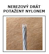 nerezovy drat potazeny nylonem