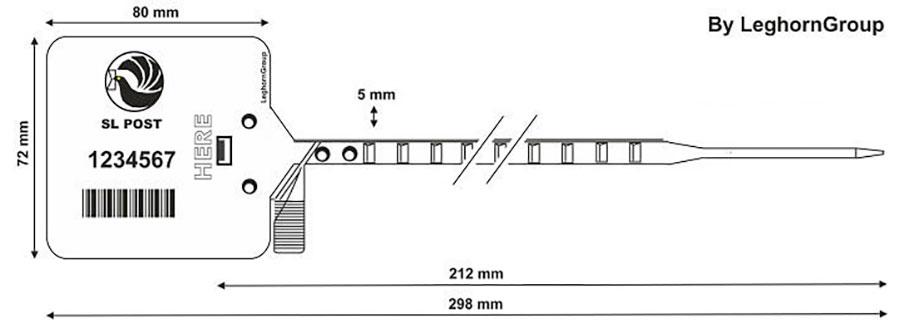 plastova plomba heraklis 5×298 mm technicky vykres