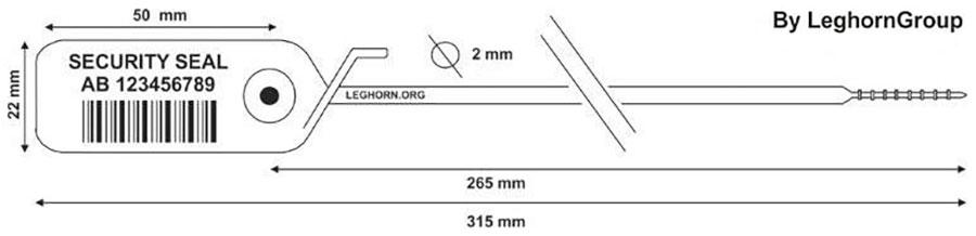 zatahovaci plomba jupiter 2×315 mm technicky vykres