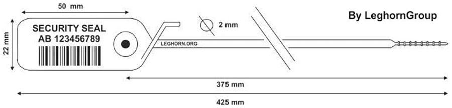 zatahovaci plomba jupiter 2×425 mm technicky vykres