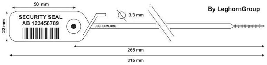 zatahovaci plomba jupiter 3.3×315 mm technicky vykres