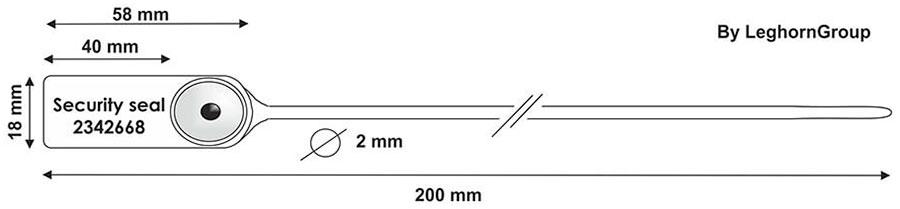 zatahovaci plomba jupiter 2x200 mm technicky vykres